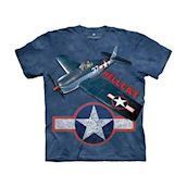 T-shirt fra The Mountain - bluse med fly, F6F Hellcat