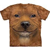 The Mountain tshirt - bluse med Pit Bull hvalp