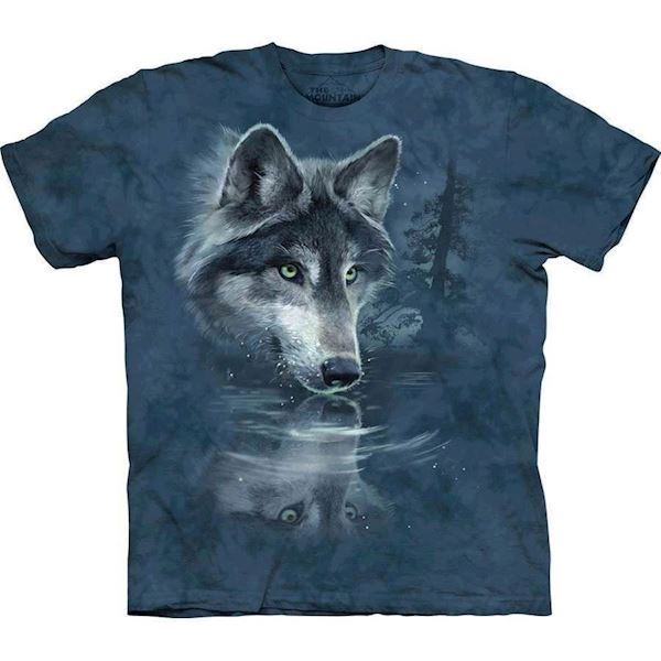 The Mountain tshirt - bluse med ulvprint