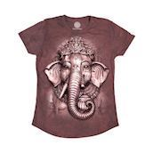 The Mountain Tri-Blend T-shirts med indisk elefant