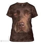 The Mountain ladies tees med brun labrador