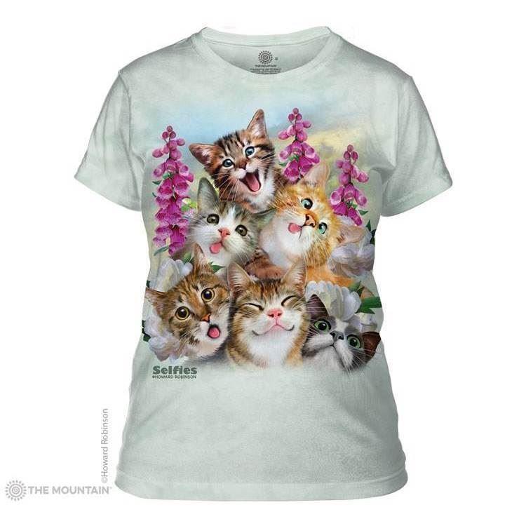Kittens selfie the mountain dame t shirt med killinger for Adult medium t shirt