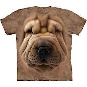 The Mountain tshirt - bluse med hundetryk