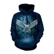 The Mountain Hoodie med hvid ugle