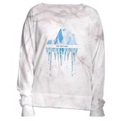 The Mountain womens sweatshirt med isbjerg