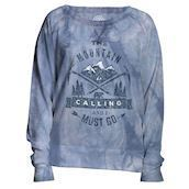 The Mountain womens sweatshirt med bjerget kalder