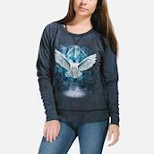 The Mountain womens sweatshirt med sneugle