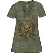 The Mountain DJ Lion Retro Tri-Blend T-shirts