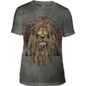 The Mountain DJ Lion Retro Triblend Tee