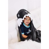 Zooshirts børne fleecetæppe Shark Critter Fleece Blanket
