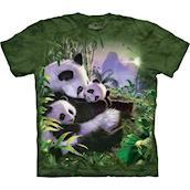 The Mountain tshirt - bluse med pandaer