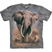 The Mountain tshirt - bluse med afrikansk elefant