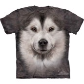 T-shirt fra The Mountain - bluse med Alaskan Malamute