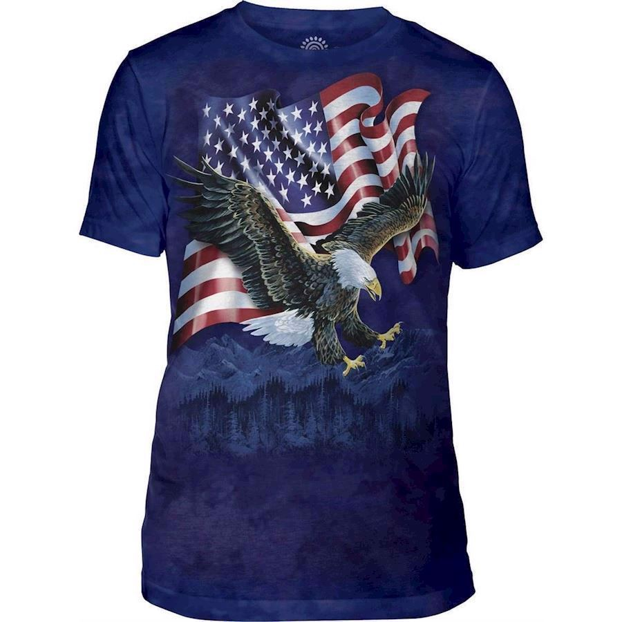 The Mountain Eagle Talon Flag Triblend Tee
