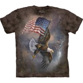 The Mountain tshirt - bluse med patriotisk ørnemotiv