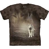 The Mountain tshirt - bluse med ulvemotiv