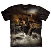T-shirt fra The Mountain - bluse med monstertryk