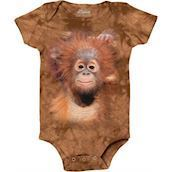 The Mountain bodystocking - babybody med orangutanunge