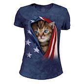 The Mountain Patriotic Kitten Tri-Blend T-shirts