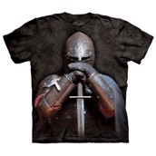 T-shirt fra The Mountain - bluse med ridder-motiv