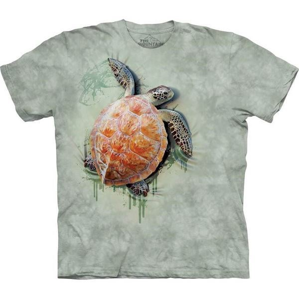 The Mountain tshirt - bluse med skildpaddetryk