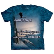 Confidence - T-shirt med ski-motiv fra The Mountain