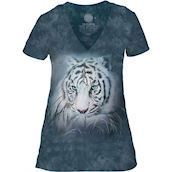 The Mountain Thoughtful White Tiger Tri-Blend T-shirts
