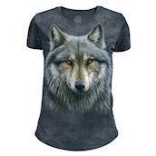 The Mountain Warrior Wolf Tri-Blend T-shirts