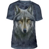 The Mountain Warrior Wolf Triblend Tee