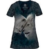 The Mountain White Lion Love Tri-Blend T-shirts