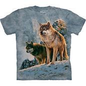 The Mountain T-shirt -  Wolf Couple Sunset