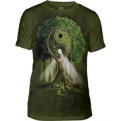 The Mountain Yin Yang Tree Triblend Tee